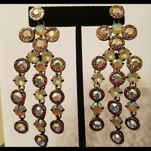 j Crew super sparkly dangle earrings
